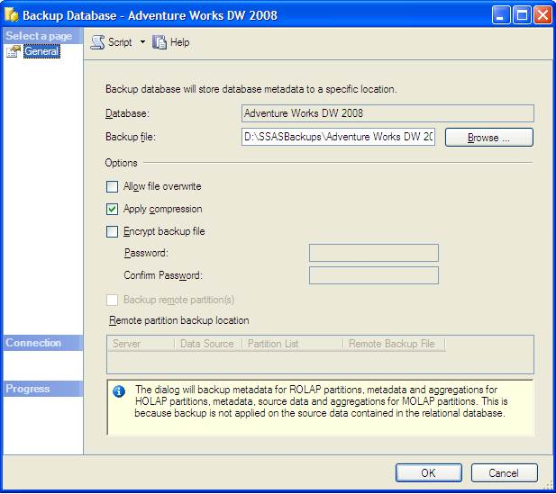 SQL Server Performance Backup and Restore of an Analysis